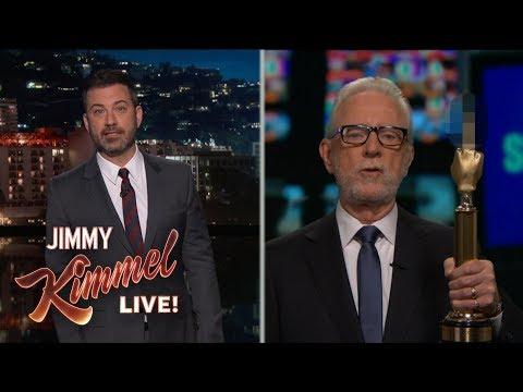 Fake 'Wolf Blitzer' accepts fake Fake News award on Jimmy Kimmel