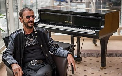 This photo taken on September 14, 2017 shows British musician and former Beatles member Ringo Starr speaking to the press to promote his new album 'Give More Love' in London. (AFP PHOTO / CHRIS J RATCLIFFE)