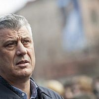 Kosovo's president Hashim Thaci attends a memorial ceremony in Pristina for missing people from the Kosovo War, on December 30, 2017. (AFP Photo/Armend Nimani)