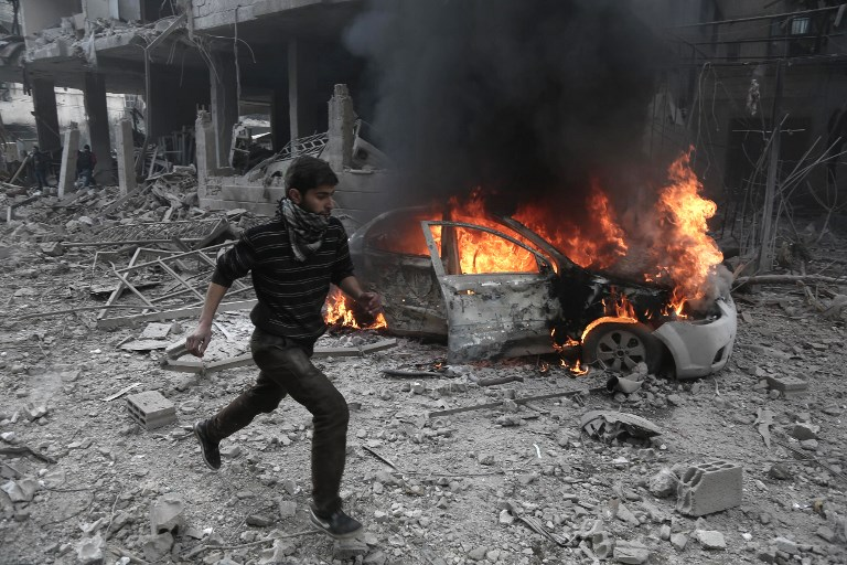 Syrian government escalates bombing campaign over last-remaining rebel strongholds