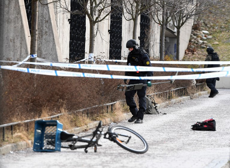 Man dies after picking up explosive device outside Stockholm metro station