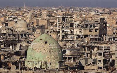 A general view shows Mosul's Old City, on January 8, 2018 (AFP PHOTO / AHMAD AL-RUBAYE)