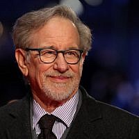 US film director Steven Spielberg poses on the red carpet on arrival for the European Premiere of his film, 'The Post' in London on January 10, 2018. (AFP PHOTO / Daniel LEAL-OLIVAS)