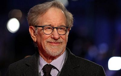 US film director Steven Spielberg poses on the red carpet on arrival for the European Premiere of his film, 'The Post' in London on January 10, 2018. (AFP Photo/Daniel Leal-Olivas)