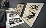 This file photo taken on June 17, 2011 shows posters and pictures of  French novelist Louis-Ferdinand Celine (AFP PHOTO / LIONEL BONAVENTURE)