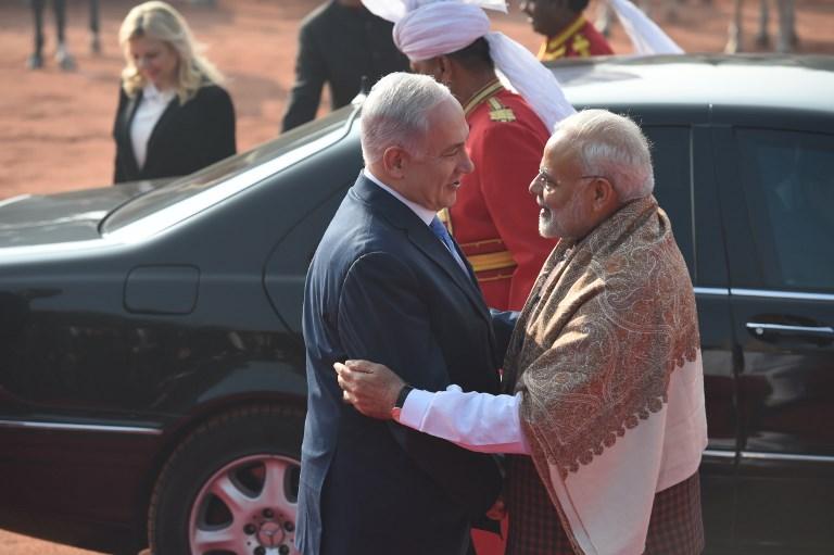 Israeli PM Netanyahu paid tribute at Teen Murti Haifa Chowk in Delhi