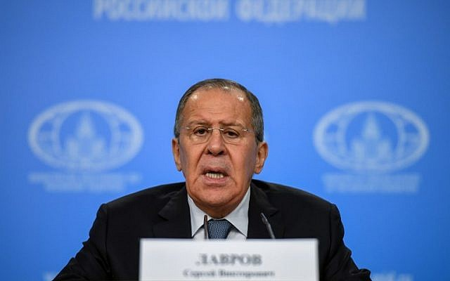 Russian Foreign Minister Sergei Lavrov gives his annual press conference in Moscow on January 15, 2018. (AFP PHOTO / Yuri KADOBNOV)
