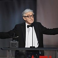 This file photo taken on June 8, 2017 shows Director-actor Woody Allen onstage during American Film Institute's 45th Life Achievement Award Gala Tribute to Diane Keaton at Dolby Theatre in Hollywood, California.   (AFP PHOTO / GETTY IMAGES NORTH AMERICA / KEVIN WINTER)