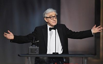Director-actor Woody Allen onstage during American Film Institute's 45th Life Achievement Award Gala Tribute to Diane Keaton at Dolby Theater in Hollywood, California,June 8, 2017. (AFP PHOTO / GETTY IMAGES NORTH AMERICA / KEVIN WINTER)