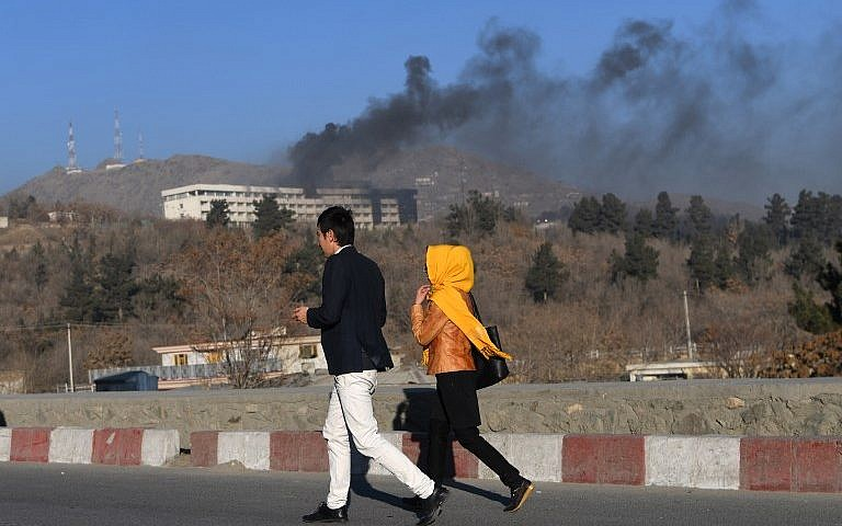 One gunman killed, three remain inside Intercontinental Hotel in Afghan capital