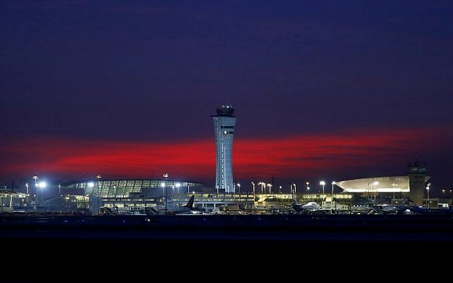 A view of Ben Gurion Airport near Tel Aviv, January 21, 2018. (AFP Photo/Jack Guez)