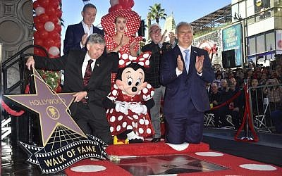 Minnie Mouse is honored with the 2,627th star on the Hollywood Walk of Fame on January 22, 2018 in Hollywood, California. (AFP Photo/Frederic J. Brown)