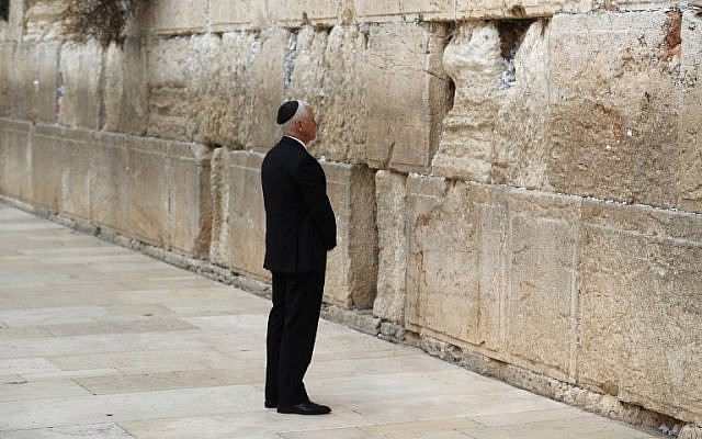 US Vice President Mike Pence visits Jerusalem's Western Wall on January 23, 2018. (AFP photo/Thomas Coex)