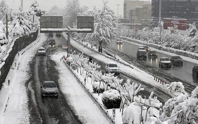 Massive Blizzard Leaves Tehran A Winter Wonderland The