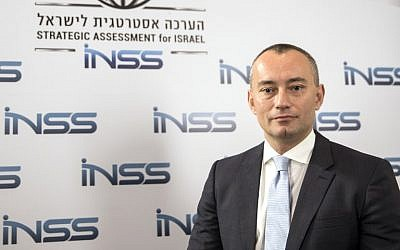 Nickolay Mladenov, UN Special Coordinator for the Middle East Peace Process, poses for a photo during the INSS conference in Tel Aviv, January 30, 2018 (JACK GUEZ/AFP)