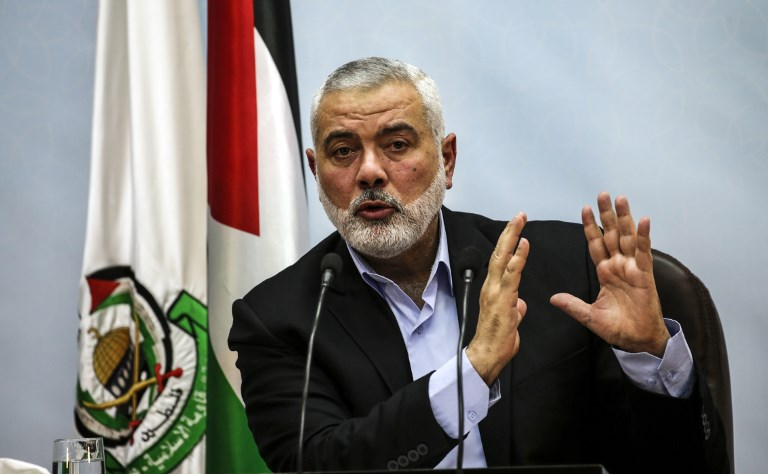 Hamas slams United States putting its chief Haneya on terror blacklist