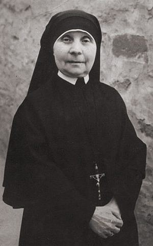 Maria Agnese Tribbioli, mother superior of a convent in Florence, Italy, during the Nazi occupation. She hid and protected Jews in her convent and was later recognized by Yad Vashem (courtesy)