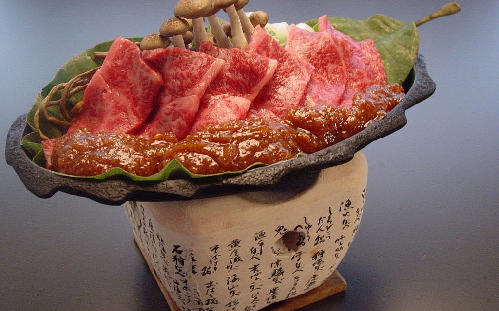 Traditional Hida beef dish, which is cooked at your table top, Hobamiso. (courtesy)