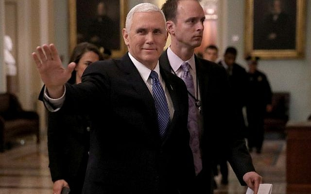 US Vice President Mike Pence walks outside the Senate chamber at the US Capitol on January 3, 2018. (Win McNamee/Getty Images/AFP)