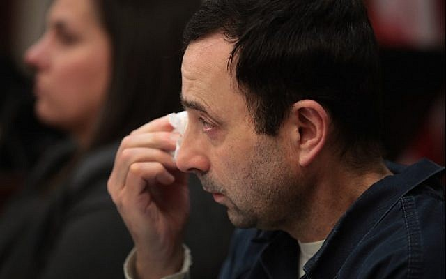 Ex-USA Gymnastics doctor, confronted by victims