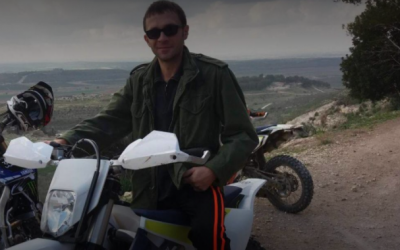 An undated photo of Artyom Vilov, 37, whose body was found on December 31, 2017, at the Hiriya recycling site in central Israel. (Courtesy of the family)