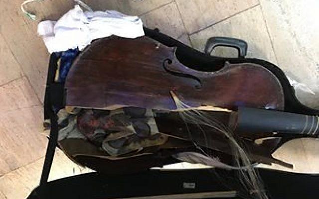 Myrna Herzog' damaged viola. (Facebook)