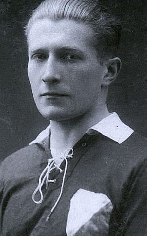 Tadeusz Gebethner, a well-known Polish soccer player who saved Jews during the Nazi occupation of Poland, and was subsequently recognized by Yad Vashem (courtesy)