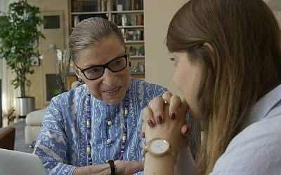 Ruth Bader Ginsburg (left) and Clara Spera appear in 'RBG' by Betsy West and Julie Cohen, an official selection of the Documentary Premieres program at the 2018 Sundance Film Festival. (Courtesy of Sundance Institute | photo CNN Films)