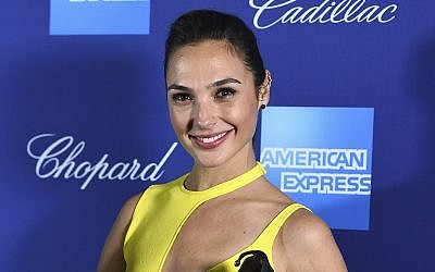 'Wonder Woman' actress Gal Gadot poses at the 29th annual Palm Springs International Film Festival on January 2, 2018, in Palm Springs, California. (Jordan Strauss/Invision/AP)