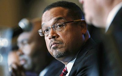 In this Dec. 2, 2016, file photo, Minnesota Rep. Keith Ellison listens during a forum on the future of the Democratic Party in Denver. (AP Photo/David Zalubowski,)