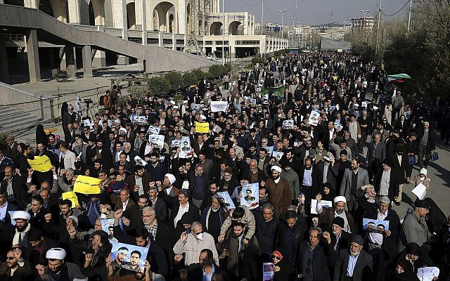Iran protests: United States  urges release of 'peaceful' demonstrators class=