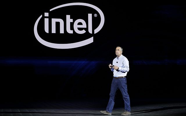 Intel CEO Brian Krzanich delivers a keynote speech at CES International, January 8, 2018, in Las Vegas. (AP Photo/Jae C. Hong)
