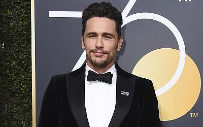 James Franco arrives at the 75th annual Golden Globe Awards in Beverly Hills, California, January 7, 2018 (Jordan Strauss/Invision/AP, File)