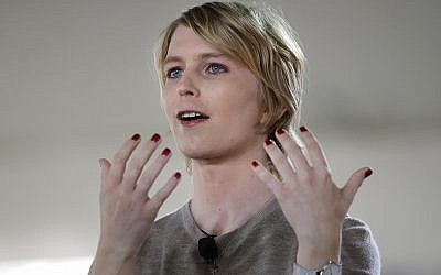 Chelsea Manning speaks during the Nantucket Project's annual gathering in Nantucket, Massachusetts, September 17, 2017. (AP Photo/Steven Senne)