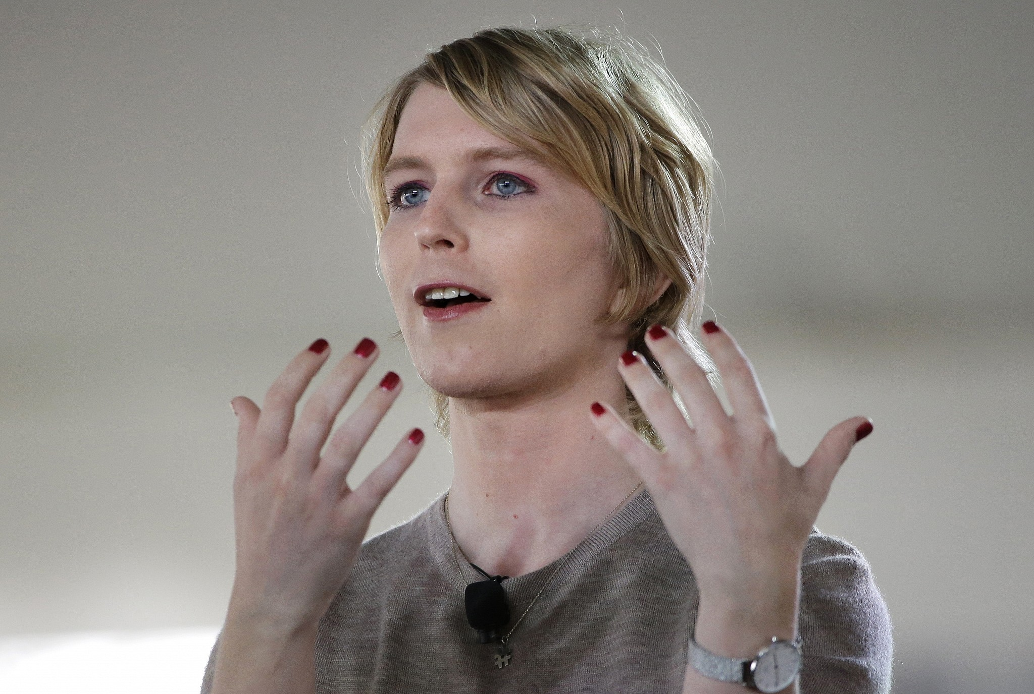 Chelsea Manning speaks during the Nantucket Project's annual gathering in Nantucket Massachusetts