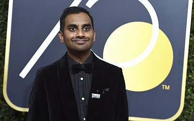 In this file photo from Jan. 7, 2018, Aziz Ansari arrives at the 75th annual Golden Globe Awards in Beverly Hills, California. (Jordan Strauss/Invision/AP)