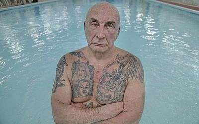 Boris Nayfeld poses for a picture at the Russian Baths in the Brooklyn borough of New York, January 18, 2018. (AP/Seth Wenig)