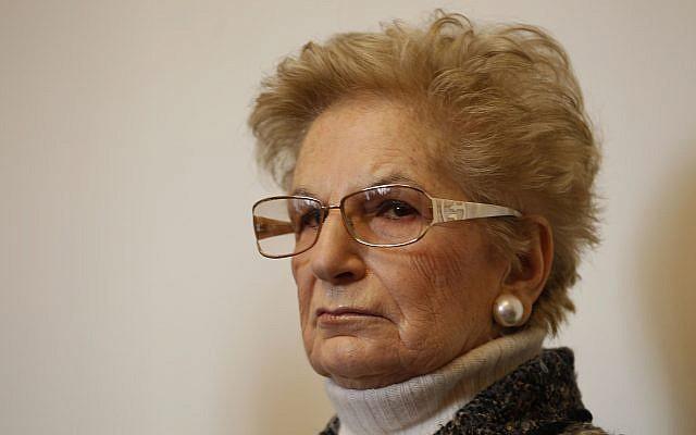 Holocaust survivor Liliana Segre, file (AP Photo/Luca Bruno)