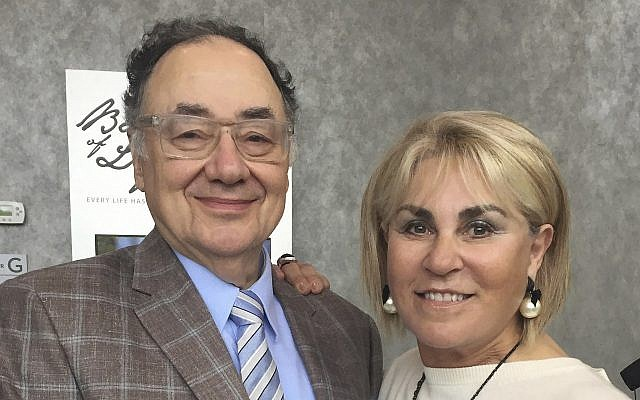 In this October 15, 2017 photo provided by the United Jewish Appeal via Canadian Press, Barry and Honey Sherman pose for a photo in Toronto, Canada. (United Jewish Appeal Federation - Greater Toronto/Canadian Press via AP)