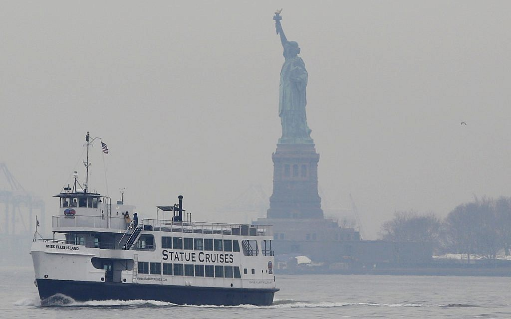 Pushing for immigration limits, Trump official spoofs Emma Lazarus poem