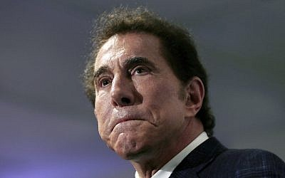 This file photo from March 15, 2016, shows casino mogul Steve Wynn at a news conference in Medford, Massachusetts. (AP Photo/Charles Krupa, File)