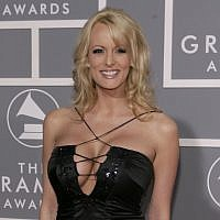 Stormy Daniels arrives for the 49th Annual Grammy Awards in Los Angeles, February 11, 2007. (AP Photo/Matt Sayles, File)