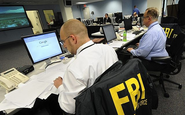 Illustrative: Agents from the FBI and other law enforcement agencies at work in New York. (AP file photo/ Louis Lanzano)