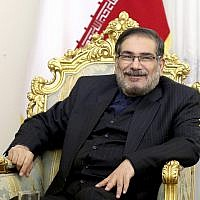 Secretary of Iran's Supreme National Security Council Ali Shamkhani,in a meeting in Tehran, Iran, January 17, 2017.  (Ebrahim Noroozi/AP)