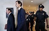 White House adviser Jared Kushner, center, and his attorney Abbe Lowell arrive at Capitol Hill in Washington, Tuesday, July 25, 2017, to be interviewed by the House Intelligence Committee. (AP Photo/Jacquelyn Martin)
