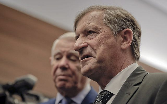 Slovenian Foreign Minister Karl Erjavec in Bucharest, Romania for talks on for talks on NATO and the European Union, November 27, 2017. (AP Photo/Vadim Ghirda)