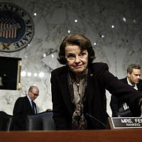 Democratic Senator Dianne Feinstein at a Senate Judiciary Committee hearing on Capitol Hill in Washington, December 6, 2017. (AP Photo/Carolyn Kaster)