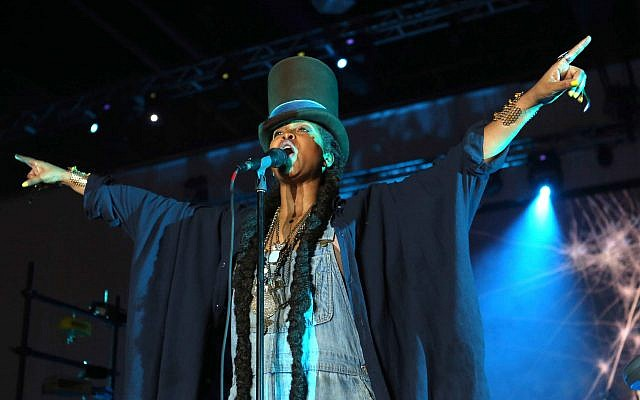 Erykah Badu performs during the 2015 Neighborhood Awards Weekend at the Georgia World Congress Center on Friday, August 7, 2015, in Atlanta. (Photo by Robb D. Cohen/Invision/AP)