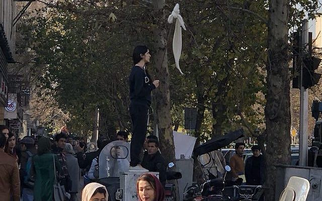 Hasil gambar untuk Iranian woman reported missing after waving headscarf in public without wearing a hijab