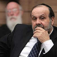 Shas MK David Azoulay during a Knesset committee meeting. February 13, 2013. (Miriam Alster/FLASH90)